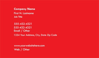 Red Business Card Teplate